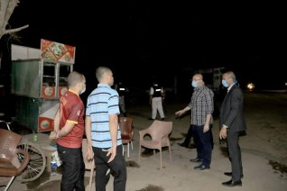 محافظ بني سويف يتابع تطبيق قرارات الحظر ببعض قرى الفشن وببا
