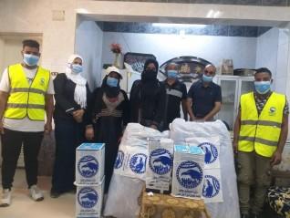 حزب مستقبل وطن يدعم مستشفى الصدر بمستلزمات طبية ويوزع الكمامات مجانا في دراو