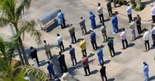 صلاة الجنازة على الفنانة رجاء الجداوى بمستشفى أبوخليفة بالإسماعيلية