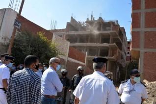 محافظ القليوبيه يقود حملة لإزالة المباني المخالفة على الأراضي الزراعية بميت حلفا مركز قليوب