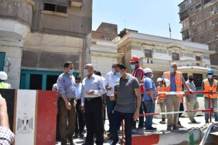 وزير النقل يتابع بدء أعمال المعالجة والإصلاح في الركن المتضرر من عمارة الشربتلي بالزمالك