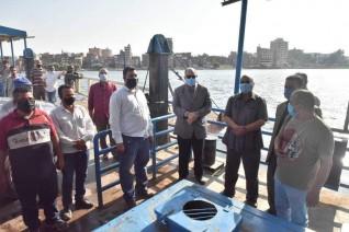 محافظ أسيوط يتفقد موقع العبارات النهرية بمركز ساحل سليم