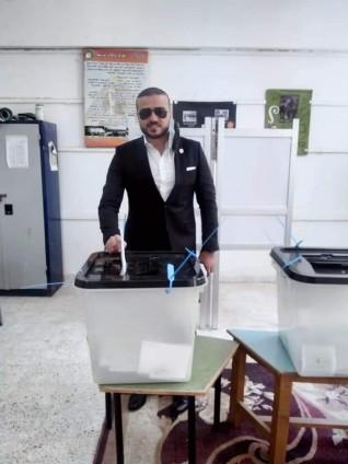 الجارحي يدلي بصوته في انتخابات الشيوخ ويدعو المواطنين للمشاركة