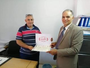 تكريم مدير مكتب القوى العاملة بمدينة بدر والشروق لمجهوداته في خدمة المواطنين