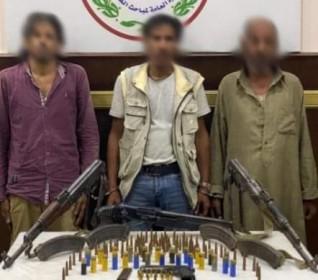 ضبط 4 قطع أسلحة نارية وذخائر بحوزة  تشكيل عصابى  بالقاهرة