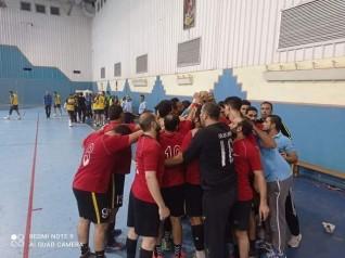 الانتهاء بالتعادل بين فريق المنيا وفريق وملوي لكرة اليد