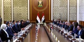 رئيس الوزراء يلقي كلمة في افتتاح أعمال اللجنة المصرية العراقية العليا المشتركة ببغداد