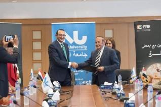 جامعة النيل الأهلية توقع بروتوكولا للتعاون مع البنك المصري لتنمية الصادرات