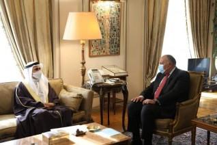 وزير خارجية جمهورية مصر العربية يلتقي رئيس البرلمان العربي
