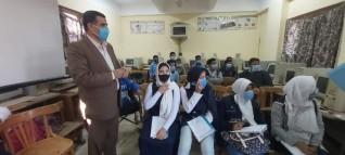 تعليم القليوبية يواصل جولاته لمتابعة انضباط المدارس وتطبيق الإجراءات الاحترازية