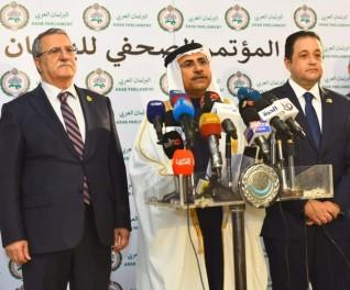 البرلمان العربي يعقد مؤتمرًا صحافيًا لإطلاق مجموعة من المبادرات