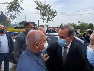 محافظ كفر الشيخ يستقبل وزير النقل لتفقد المرحلة الاولى من طريق مزدوج