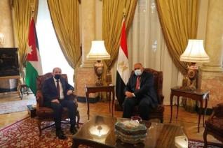 وزير الخارجية يستقبل نظيره الأردني
