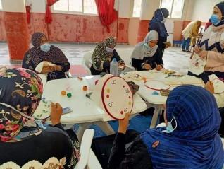 دورة تدريبية في مجالي التطريز وأعمال الخشب بمركز شباب الهياتم بالغربية