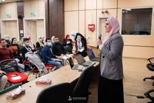 سلوى أبوزيد تشارك في مؤتمر جوجل للاحتفاء بالسيدات الرائدات بجامعة المنصورة