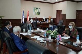 جامعة بدر تستقبل وفداً أوكرانياً لبحث سبل التعاون الدولى فى مجال التعليم والبحث العلمى