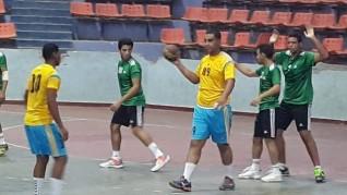 بقاء نادى أسوان فى دورى الممتاز لكرة اليد بعد الفوز على قارون 33-31