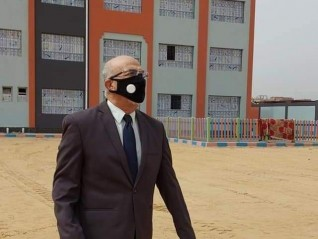 """"""" جرامون"""" يتفقد سير الاعمال بمدرسة المكفوفين بمدينة بنها"""