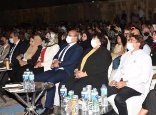 وزيرة الثقافة تطلق فعاليات المهرجان الدولى للطبول والفنون التراثية الثامن