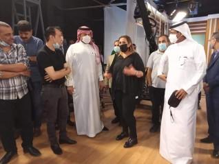 وفد سعودي رفيع المستوى  في ضيافة التلفزيون المصري