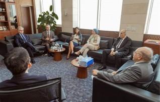 رئيس الجامعة الفرنسية يزور  الجامعة المصرية اليابانية