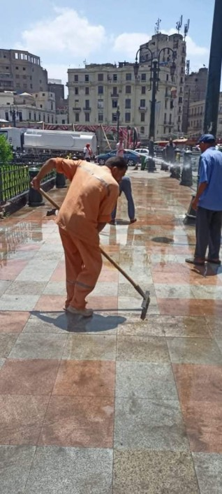 حملات نظافة وتجريد مكبرة بالمناطق الأربعة التابعة للقاهرة