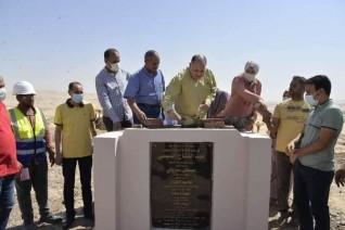 محافظ أسيوط يضع حجر أساس مشروع انشاء محطة معالجة الصرف ببنى غالب