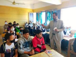 زيارة ميدانية مفاجئة لمدرسة كوم البجا فرشوط شمال قنا