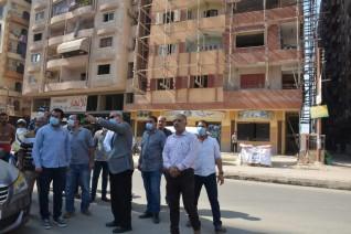 محافظ القليوبية يقوم بجولة تفقدية  بمدينة بنها ويضبط عددا من أعمال البناء المخالف