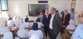 وكيل وزارة التربية والتعليم بالمنيا يتابع إمتحانات الصف الأول الثانوى
