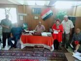 بالصور.. الإجتماع الأسبوعي لمديري الجمعيات بابشواي الزراعية