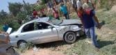 بالصور.. مصرع شخصين وإصابة 9 آخرين في حادث تصادم بالمنيا