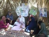 بالصور : تعليم الأشغال اليدوية فى المدارس الحقلية