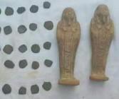 ضبط 3 أشخاص بحوزتهم قطع أثرية متنوعة بمدينة أبوتيج بأسيوط