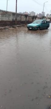 مدن ومراكز الغرببة تغرق بسبب موجة الأمطار