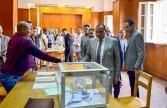 رئيس جامعة بني سويف يتفقد جولة إعادة لإنتخابات إتحاد الطلاب