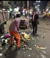 الفقي يتابع عمليات النظافة الليلية بشبراخيت