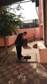 أبوزيد يطمئن علي محطات الرفع تحسباً للأمطار
