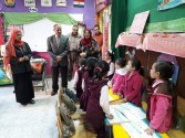 بالصور:وكيل تعليم الفيوم يتفقدمدرسةمحمدرضاالإبتدائية.