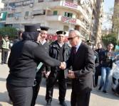 محافظ القليوبية يقدم التهنئة لرجال الشرطه ويضع إكليل من الزهور على النصب التذكاري للجندي المجهول