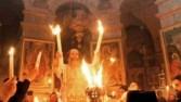 ظهور النور المقدس في كنيسة القيامة بالقدس