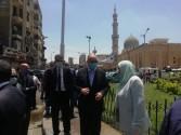 محافظ القاهرة يشرف على حملة مكبرة بحى السيدة زينب لرفع كفاءة النظافة وتطهير وتعقيم الحى