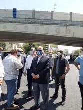 محافظ القاهرة يتابع أعمال التشجير والإنارة أسفل كوبرى الميرغنى