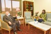 """وزيرة الهجرة تبحث مع رئيس """"الوطنية للانتخابات"""" آلية تصويت المصريين بالخارج خلال انتخابات مجلس الشيوخ"""