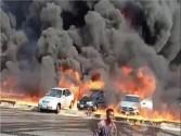 الصحة: إرتفاع إصابات حريق طريق القاهرة الإسماعيلية الصحراوي إلى ١٧ إصابة ولا وفيات
