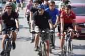 """تحت شعار"""" رياضتك.. مناعتك"""" وزير الرياضة يشارك ٥٠٠ متسابق من الشباب في ماراثون الدراجات الهوائية"""