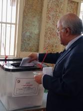 الفيومي يدلي بصوته بانتخابات الشيوخ