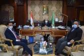 محافظ المنيا يناقش مع أعضاء مجلس الشيوخ عددا من القضايا والمشاكل