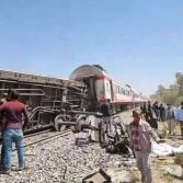 تصادم قطارين في سوهاج وسقوط ضحايا